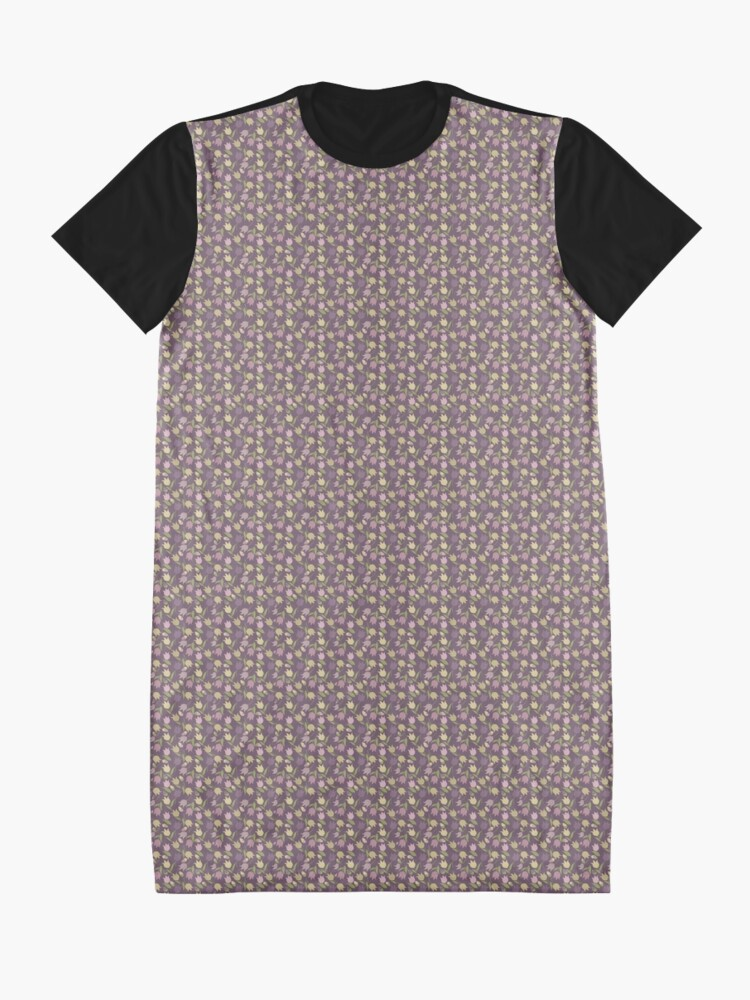 Alternate view of Tulips Pattern  Graphic T-Shirt Dress