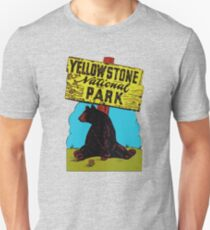 Yellowstone National Park Wyoming Vintage Travel Decal T-Shirt