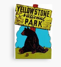 Yellowstone National Park Wyoming Vintage Travel Decal Canvas Print