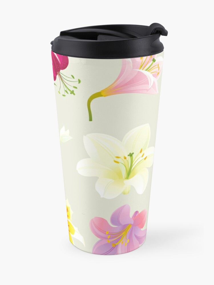 Alternate view of Colorful Lilies Travel Mug