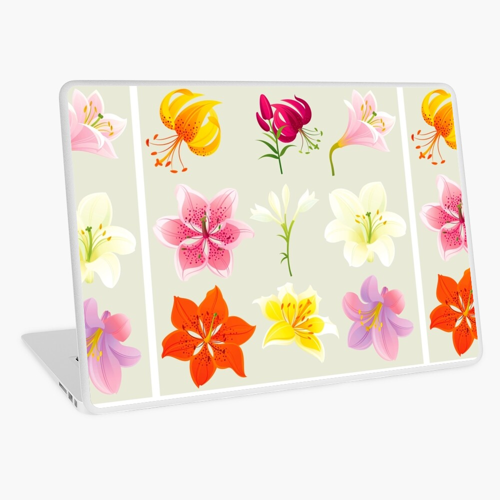Colorful Lilies Laptop Skin
