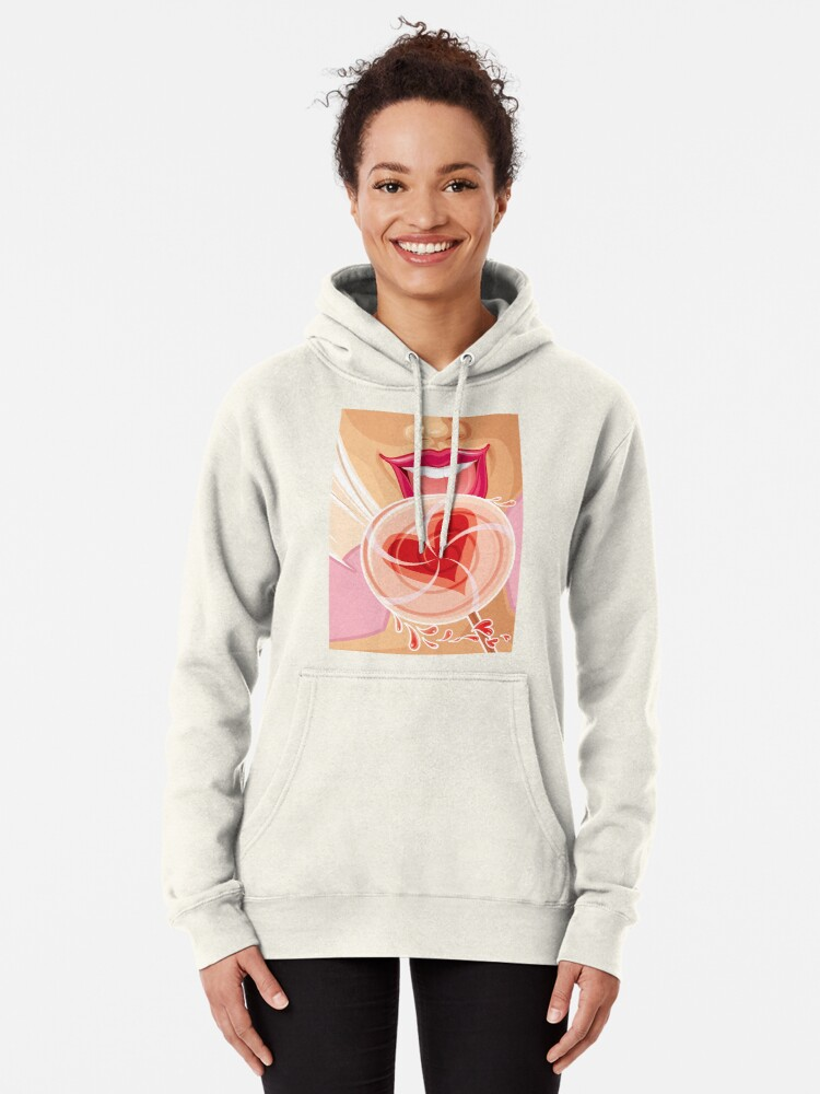 Alternate view of Lollipop Girl Pullover Hoodie