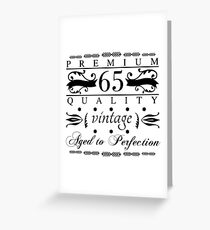 Premium 65th Birthday Greeting Card