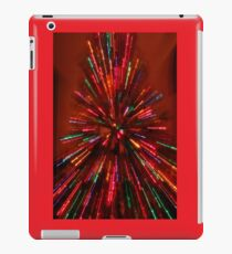red crazy christmas lights iPad Case/Skin