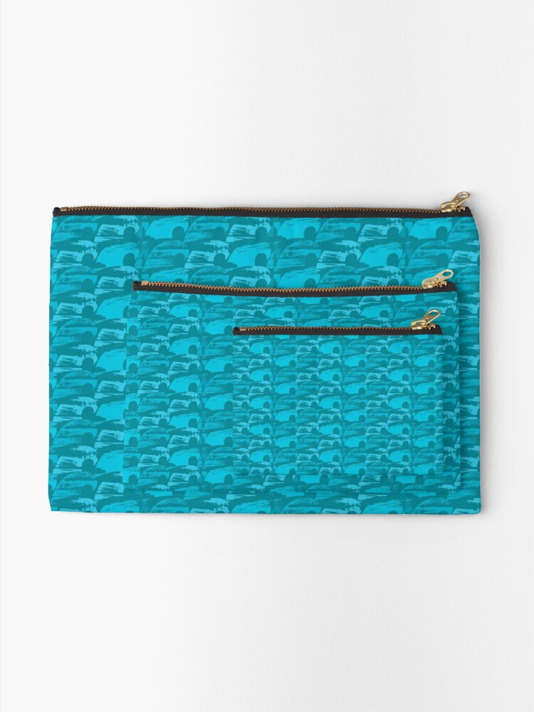 Alternate view of Wave Pattern Zipper Pouch