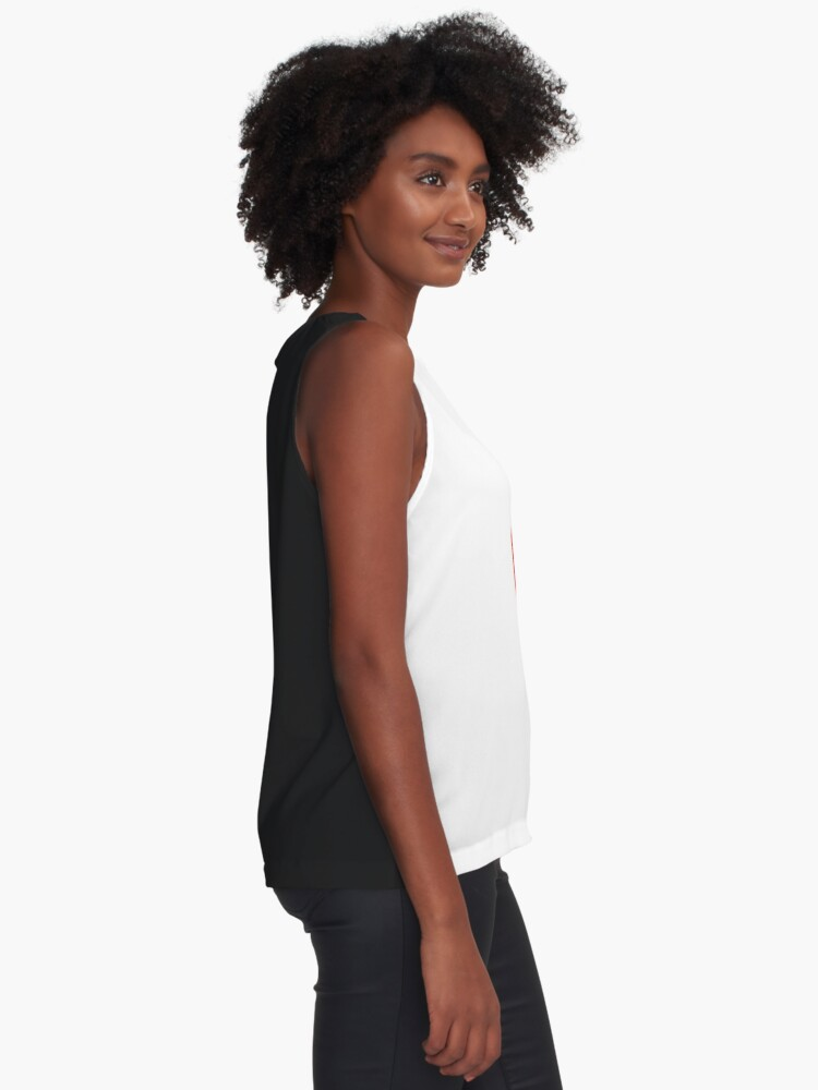 Alternate view of Colorful Lollypop on White Sleeveless Top