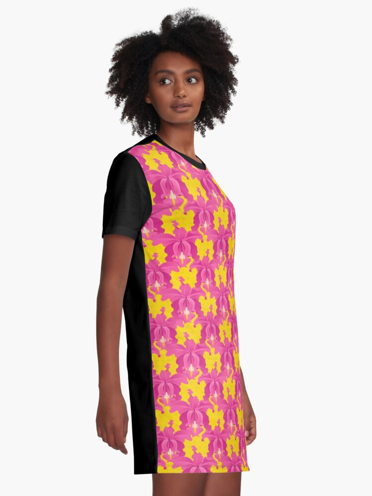 Alternate view of Pink Orchids Graphic T-Shirt Dress