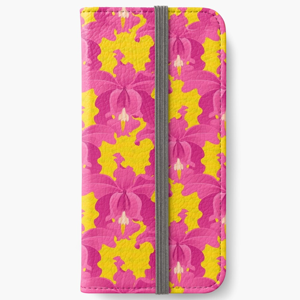 Pink Orchids iPhone Wallet