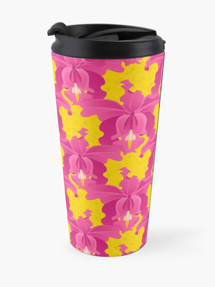 Alternate view of Pink Orchids Travel Mug