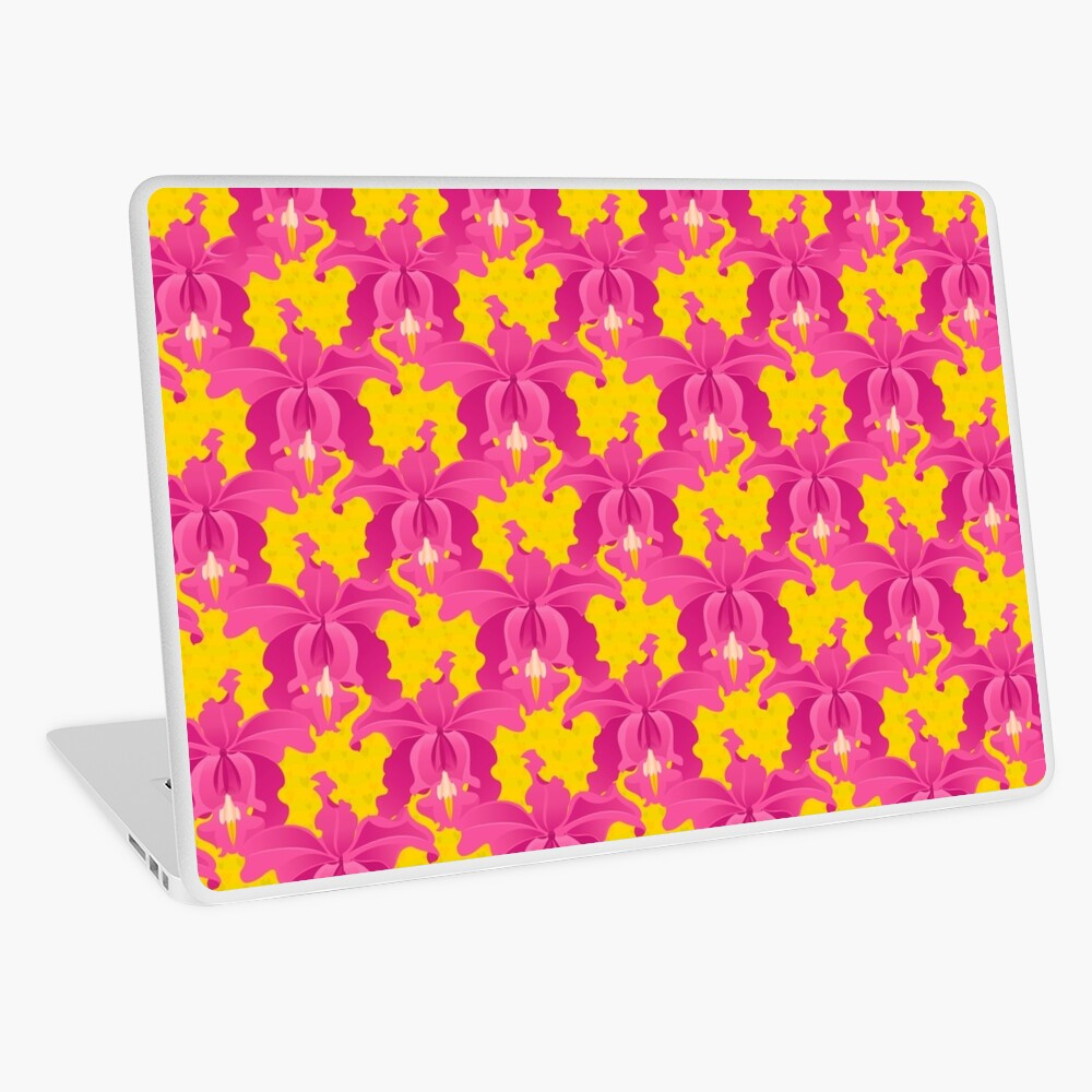 Pink Orchids Laptop Skin
