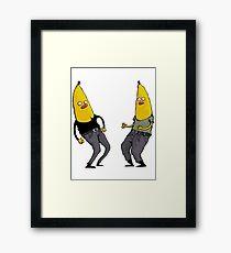 bananas in regular clothing Framed Print