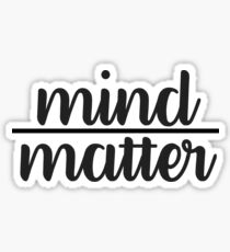 Cursive Mind Over Matter Sticker