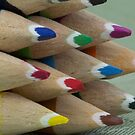 Colourful Crayons up Close by Cory Lievers