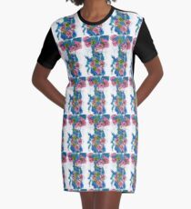 Spring Bloom Graphic T-Shirt Dress