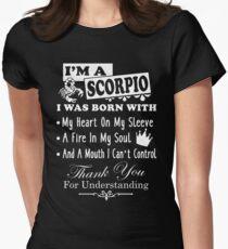 Camiseta entallada para mujer Soy una camisa de Escorpio