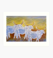 Ghost Cattle Art Print