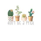 Dont Be a Prick Succulents by annmariestowe