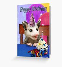 Tarjeta de felicitación Zarigüeya de cumpleaños