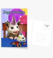Birthday Opossum Postcards