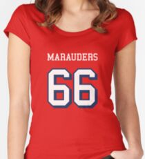 Marauders 66 Red Jersey Women's Fitted Scoop T-Shirt