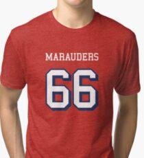 Marauders 66 Red Jersey Tri-blend T-Shirt