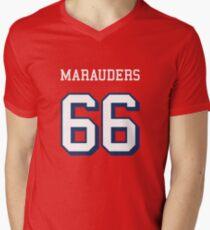 Marauders 66 Red Jersey Men's V-Neck T-Shirt