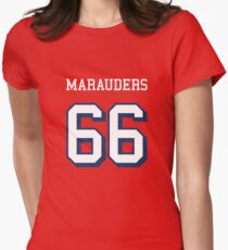 Marauders 66 Red Jersey Women's Fitted T-Shirt
