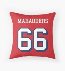Marauders 66 Red Jersey Throw Pillow