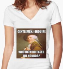 Who Let the Dogs Out DUCREAUX MEME Women's Fitted V-Neck T-Shirt