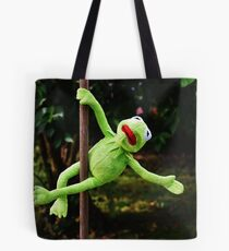 Kermit the frog on a pole Tote Bag