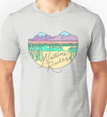 Nature Rules mountains camping patagonia outdoors wanderlust print T-Shirt