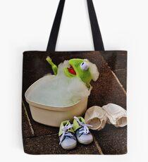 Kermit having a bath Tote Bag