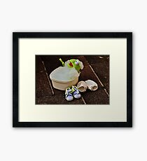 Kermit having a bath Framed Print