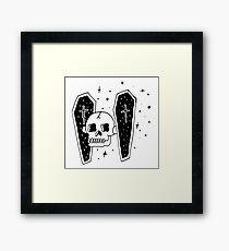 Skull Wars Tie Fighter Framed Print