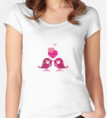 Love Birds Fitted Scoop T-Shirt