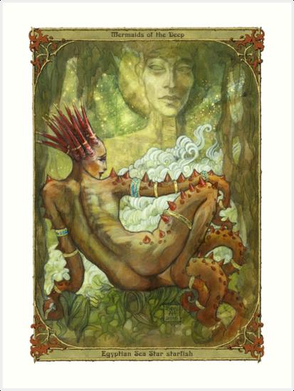 Mermaids of the Deep: Egyptian Sea Star by BohemianWeasel
