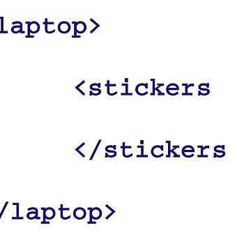 Laptop stickers html by Lexarzz