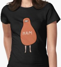 Ham : To Kill A Mockingbird Literally Scout Ham Halloween Costume Women's Fitted T-Shirt