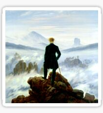 Wanderer above the Sea of Fog Sticker