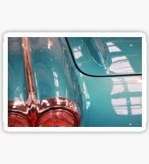 Beautiful blue shiny classic car hood and headlight Sticker