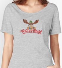 Walley World - Distressed Logo Women's Relaxed Fit T-Shirt