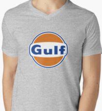 Gulf Vintage Logo Gasoline & Oil Men's V-Neck T-Shirt