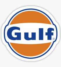 Gulf Vintage Logo Gasoline & Oil Sticker