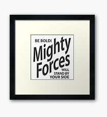 Mighty Forces Framed Print