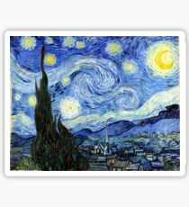 Starry Night, Vincent van Gogh Sticker