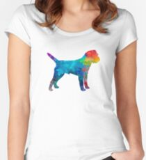 Border Terrier in watercolor Women's Fitted Scoop T-Shirt
