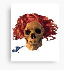 skull, cigarette, death, smoking kills Canvas Print