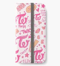 ZWEI Doodle-Muster iPhone Flip-Case/Hülle/Klebefolie
