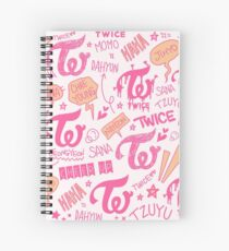 TWICE Doodle Pattern Spiral Notebook