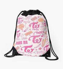 TWICE Doodle Pattern Drawstring Bag